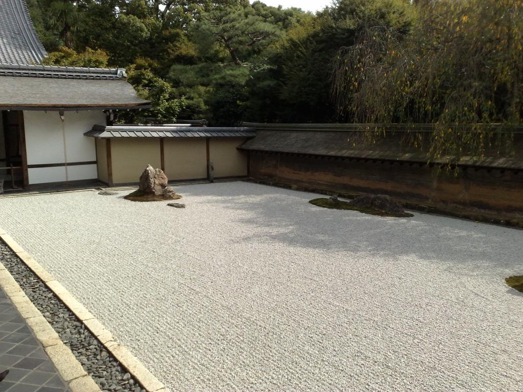 Bild 16. Der berühmte Steingarten im Ryōan-ji.