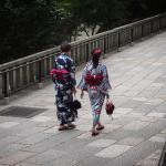 Bild 18. Ein paar Frauen tragen heute doch Kimono.