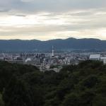 Bild 7. Blick auf Kyōto mit dem Kyōto Tower in der Mitte.