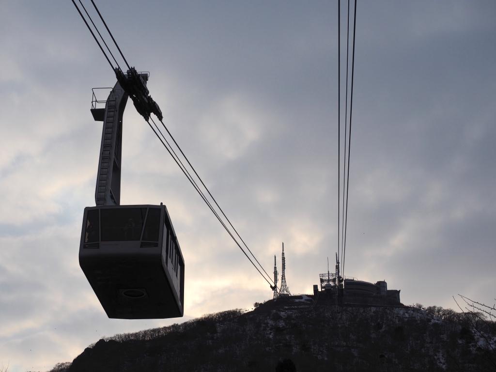 Bild 17. Dann kommt man endlich zur Seilbahn, die einen auf den Mt. Hakodate bringt.