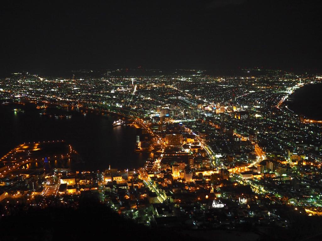 Bild 24. Die nächtliche Aussicht auf Hakodate zählt zu den drei schönsten Nachtansichten Japans.